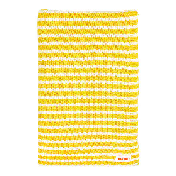 Blanki line them up blanket - Canary - Folded
