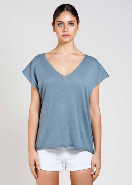 Tully Tee in Duck Egg