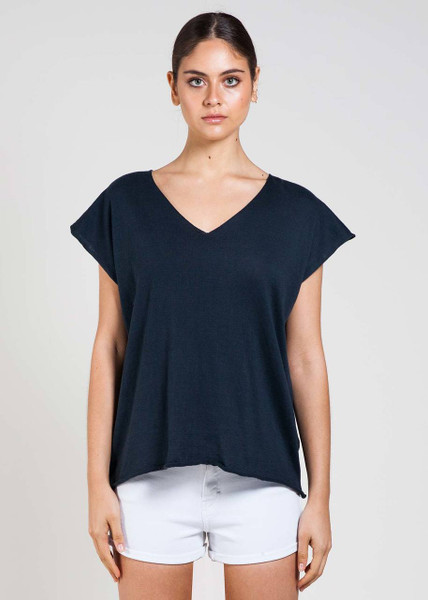 Tully Tee in Liquorice