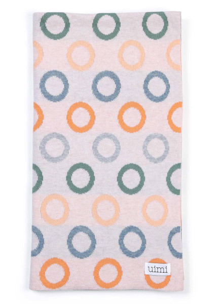 Fruit Loops Blanket in Apricot (folded)