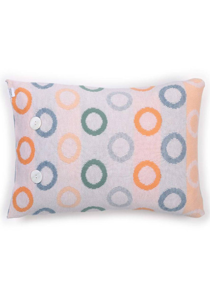 Fruit Loops Cushion in Apricot