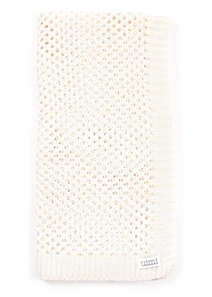 Sophie Blanket in Vanilla (folded)