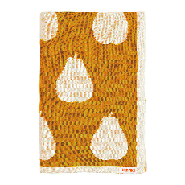 Blanki pairs of pears blanket (gold) - Folded