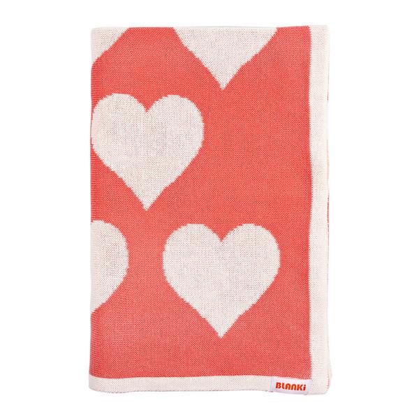 Blanki lots of love blanket (peach) - Folded