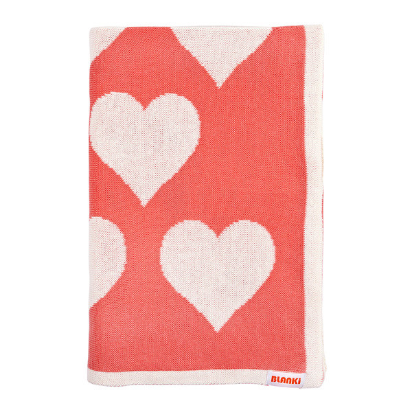Blanki lots of love blanket (peach) - Folded