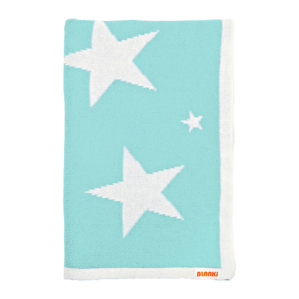 Blanki starry night blanket (aqua) - Folded