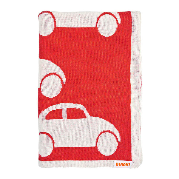 Blanki traffic jam blanket (blood orange) - Folded