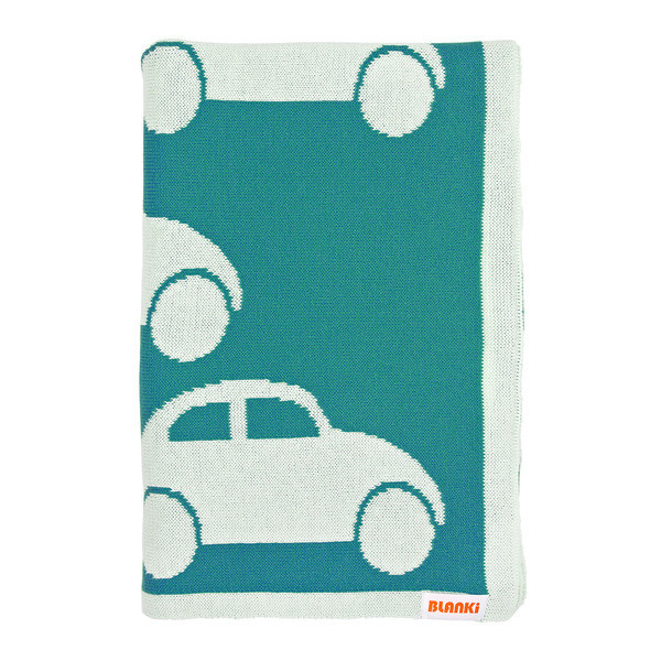 Blanki traffic jam blanket (turquoise) - Folded