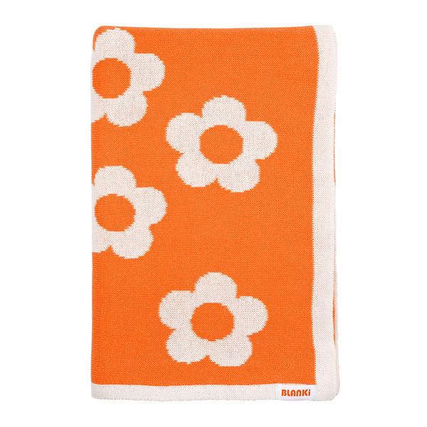 Blanki daisy chain blanket (rockmelon) - Folded