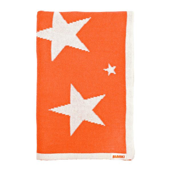Blanki starry night blanket (pumpkin) - Folded