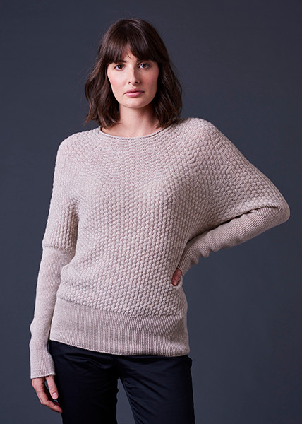 Bellamy Jumper - Oatmeal (front)