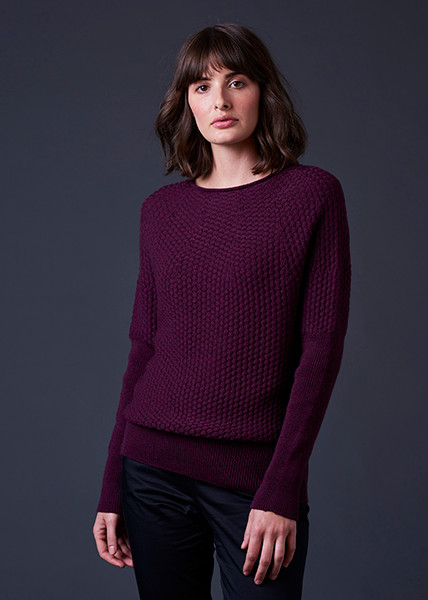 Bellamy Jumper - Plum (front)