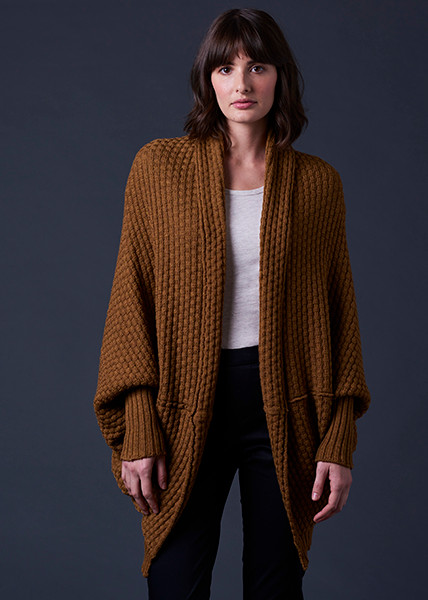 Bellamy Shrug - Cinnamon (front)