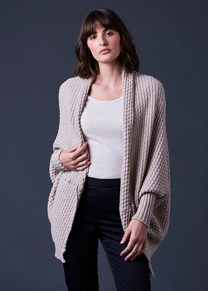 Bellamy Shrug - Oatmeal (front)