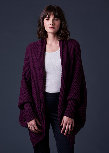 Bellamy Shrug - Plum (front)