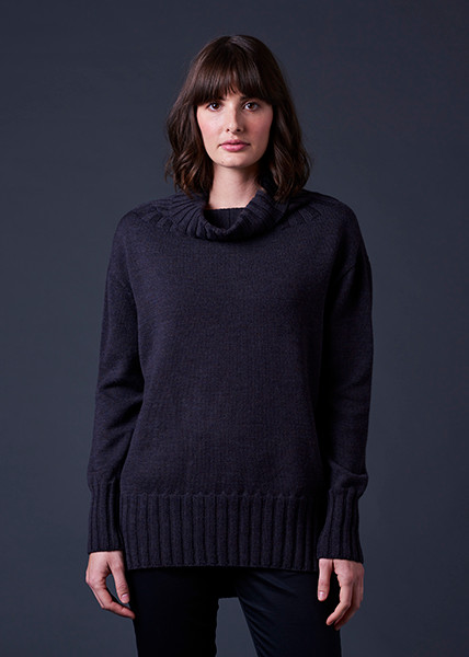 Juno Jumper - Blackcurrant (front)