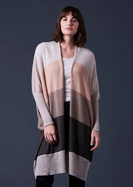 Piper Cardigan - Almond (front)