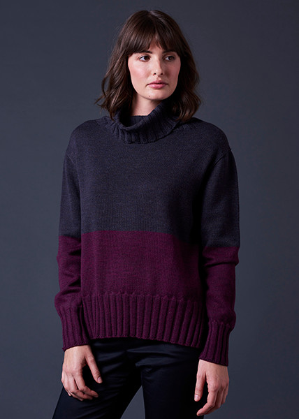 Roxy Jumper - Blackcurrant (front)