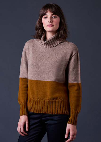 Roxy Jumper - Brass (front)