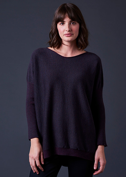 Tabitha Jumper - Blackcurrant (front)