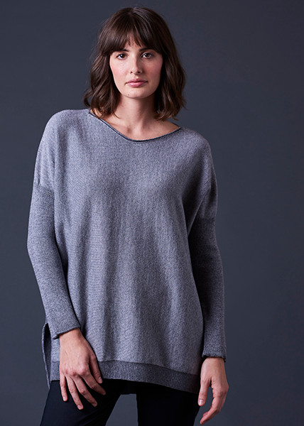 Tabitha Jumper - Pewter (front)