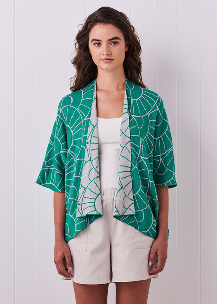 Tansy Kimono - Peacock