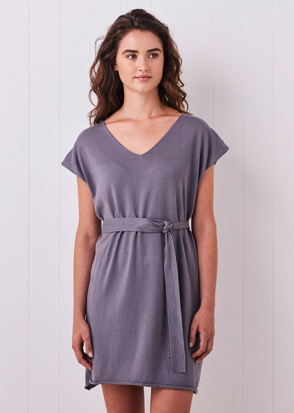 Tully Dress - Eggplant (with belt)