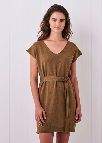 Tully Dress - Tobacco (with belt)
