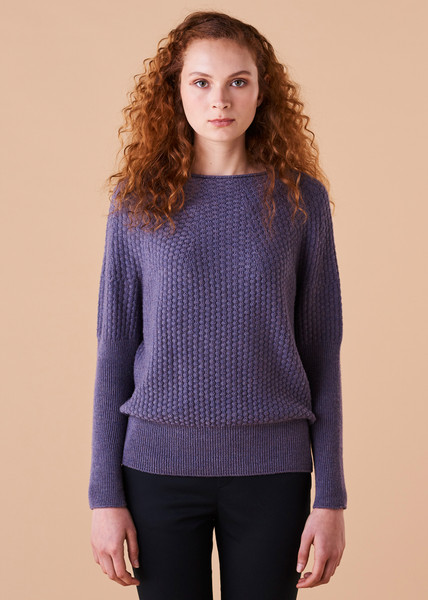 Bellamy Jumper - Fig (front)