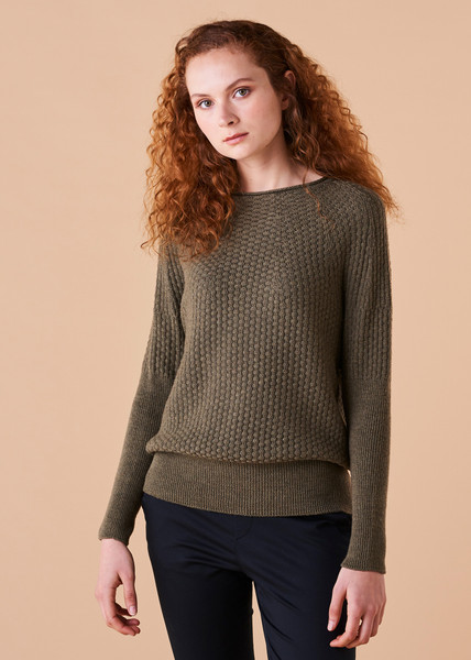 Bellamy Jumper - Olive (front)