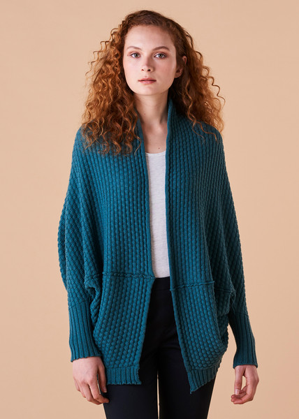 Bellamy Shrug - Teal (front)