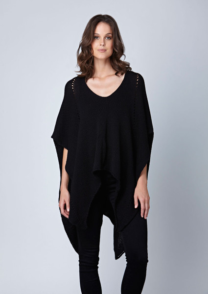 Dusty poncho - Black