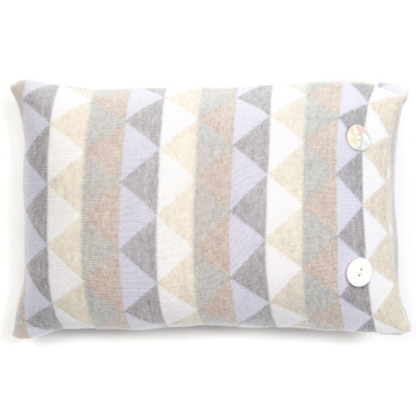 Bindi oblong cushion - Glacier