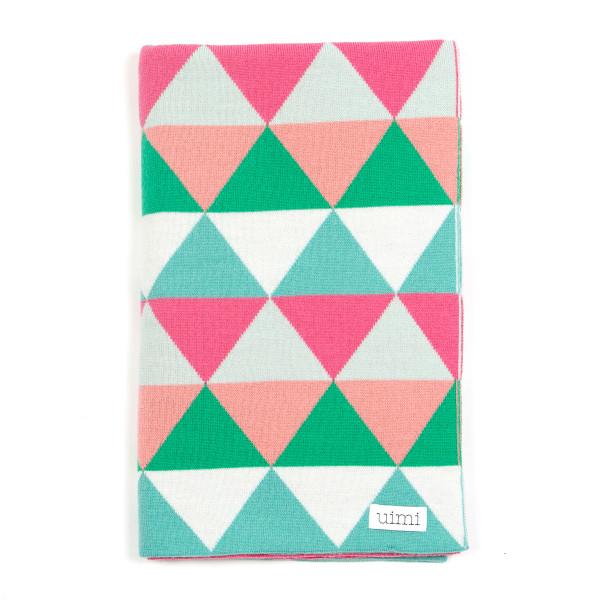 Indiana blanket - Pistachio - folded
