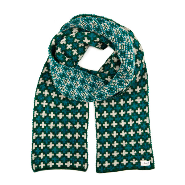 Holly scarf - Bottle Green