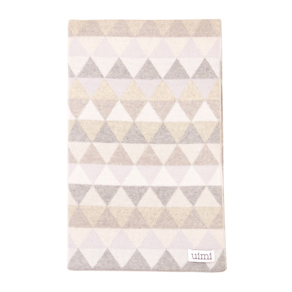 Bindi kids blanket - Silver - folded