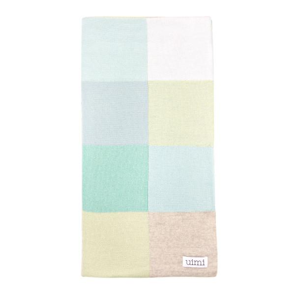 Frankie blanket - Seafoam - folded