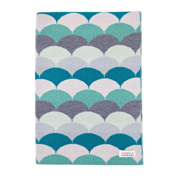 Phoenix blanket - Chambray - folded