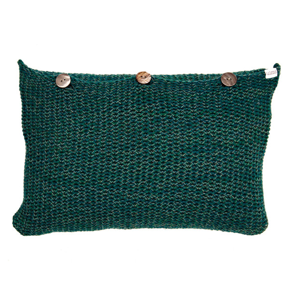 Lulu oblong cushion - Bottle Green