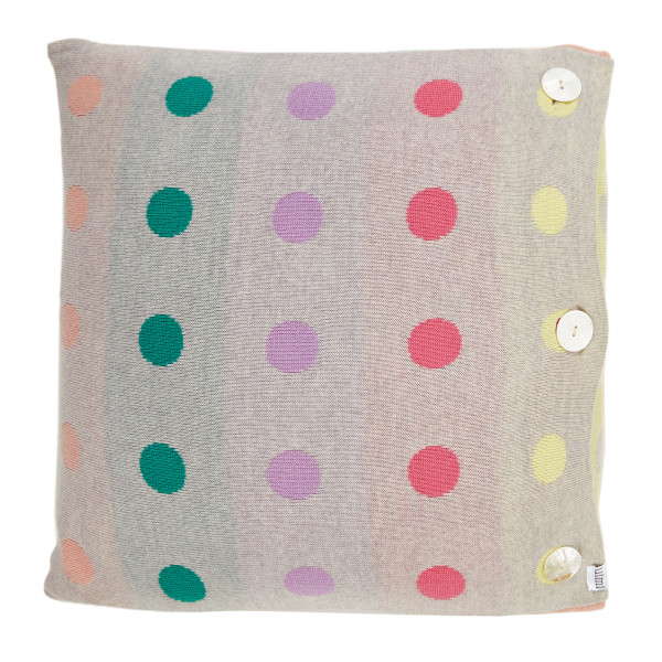 Peggy square cushion - Flamingo