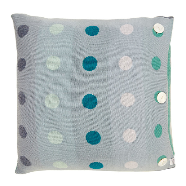 Peggy square cushion - Chambray
