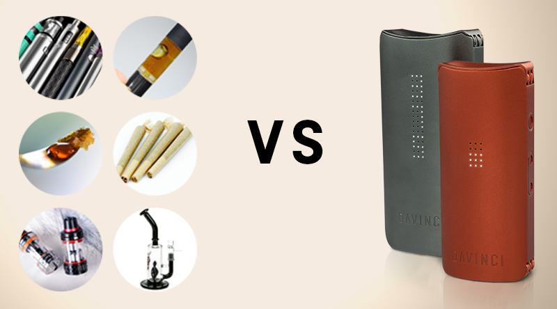 A Dry Herb Vaporizer vs  Other Smoking Methods - DaVinci