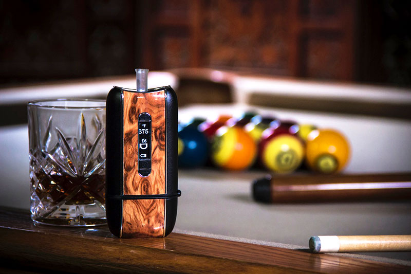 Ascent vaporizer on pool table