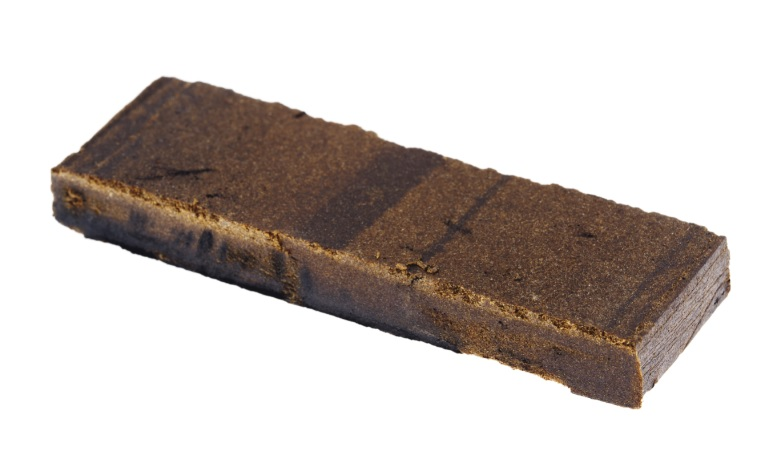 Block of cannabis hash