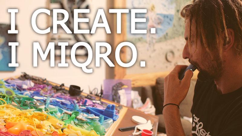 An artist using the MIQRO vaporizer