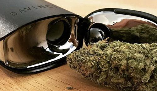 IQ Vaporizer with weed image