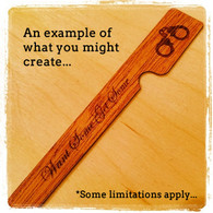 Custom cedar spills with your text and artwork.