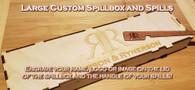 Custom Large Russian birch spillbox and spills
