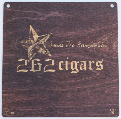 The 262Cigars placard