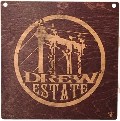 Drew Estate cigar maker placard.